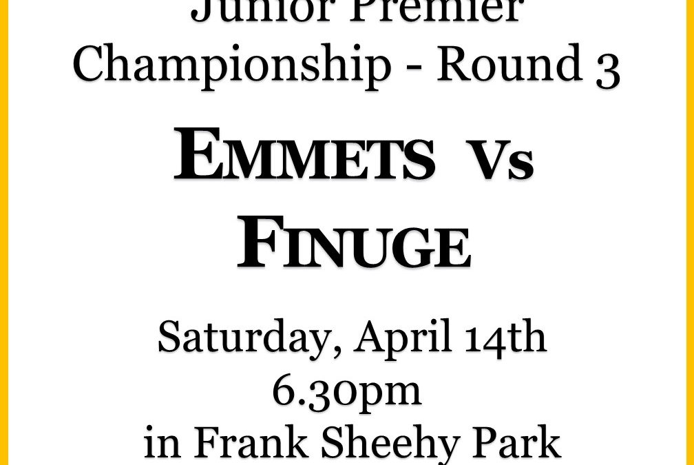 Emmets welcome Finuge this Saturday